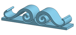 Ornement de façade long