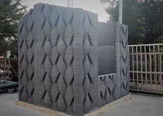 Maison à motif 3D