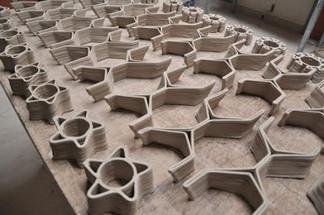 Elements de construction imprimés