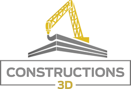 Logo Constructions 3D - Fond Transparent