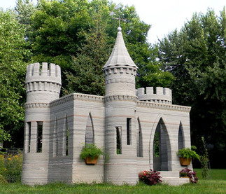 Château imprimé en béton