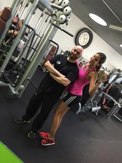Sara Leutenegger mit  Coach Abed