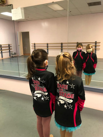 Our 2 Smallest Team Members with their new jackets!