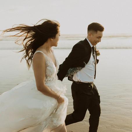 athena + ian | oregon coast elopement