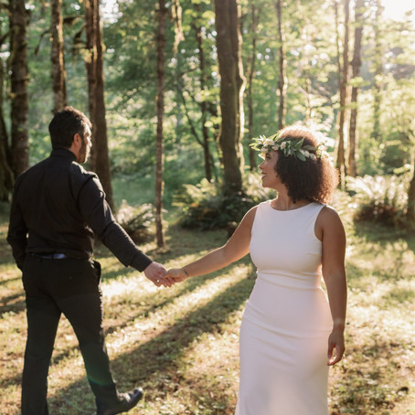 jasmine + patrick | oregon forest elopement