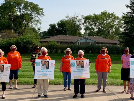 Joliet Zonta Club Honors Dick & Millie Schuster