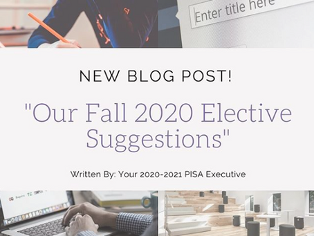 Our Fall 2020 Elective Suggestions