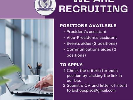 Call for Aides/ Job Descriptions