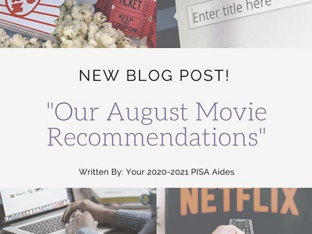 Our August 2020 Movie Recommendations