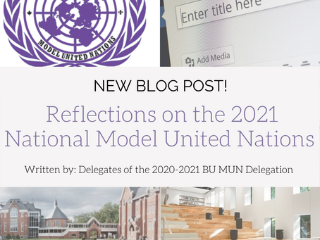 Reflections on the 2021 National Model United Nations