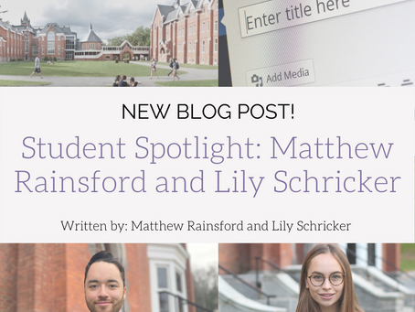Student Spotlight: Lily Schricker and Matthew Rainsford.