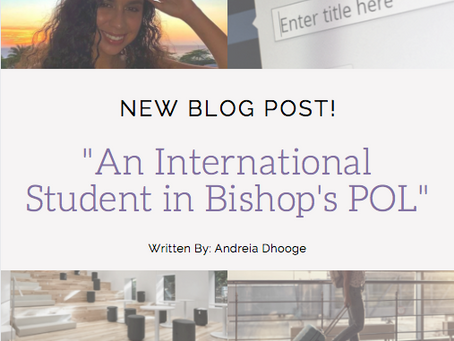 An International Student in Bishops POL
