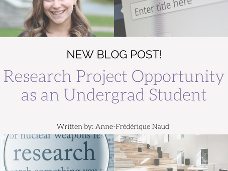 Research Project Opportunity as an Undergrad Student!