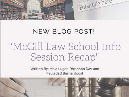 McGill University Law School Info Session Recap