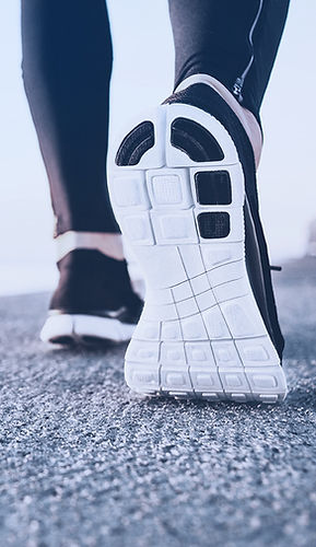 Woman walking picture of shoes