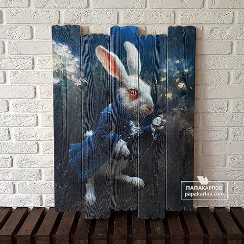 """Картина на досках """"Кролик 1"""""""