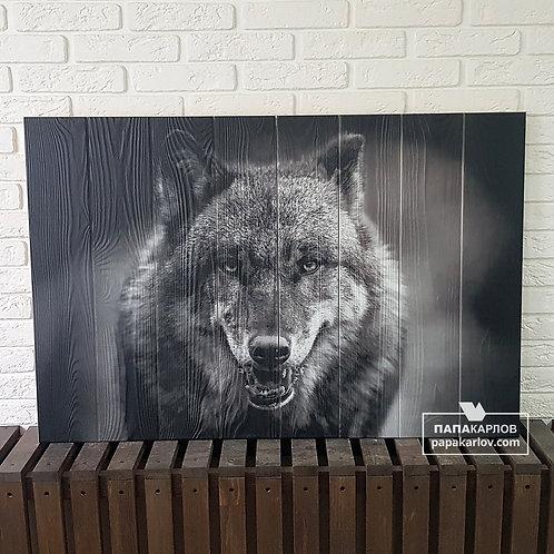 "Картина на досках ""Волк 1"""
