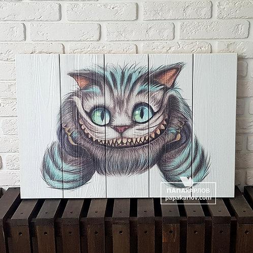 "Картина на досках ""Чеширский кот 2"""
