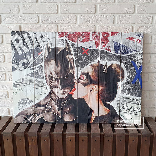 "Картина на досках ""Бэтмен 2"""