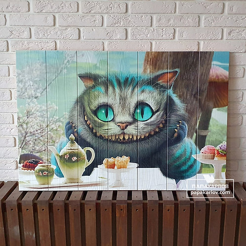 "Картина на досках ""Чеширский кот 1"""