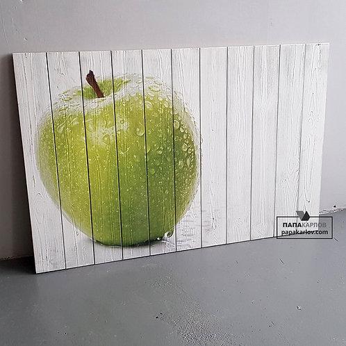 "Картина на досках ""Яблоко"""