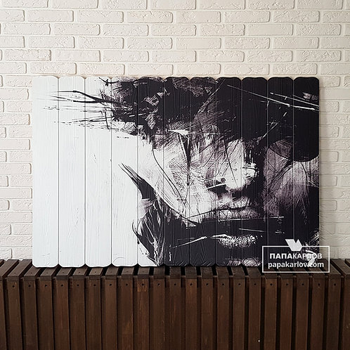 "Картина на досках ""Репродукция Расса Милса 1"""