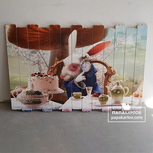 """Картина на досках """"Кролик 2"""""""