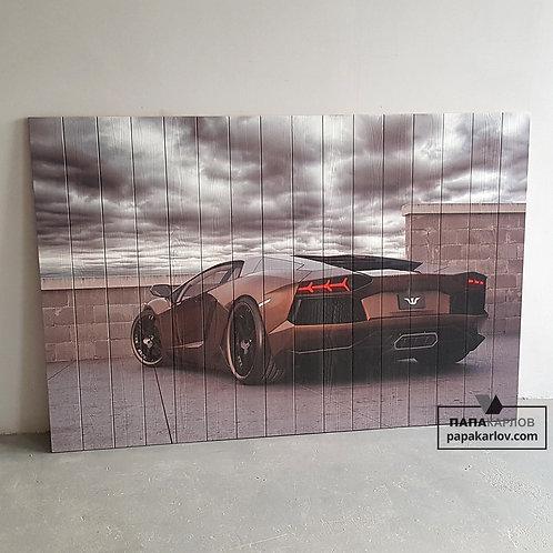 """Картина на досках """"Sport car 1"""""""