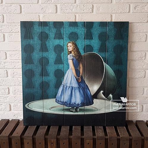 """Картина на досках """"Алиса"""""""