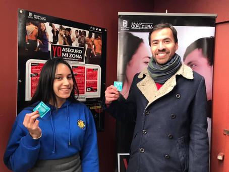 Instalamos el primer dispensador de preservativos en el Liceo Alcalde Jorge Indo