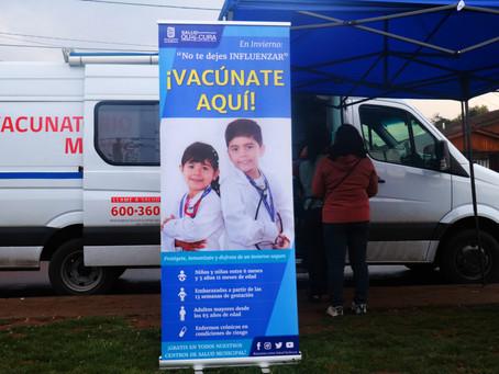 Exitoso operativo de vacunación contra la influenza