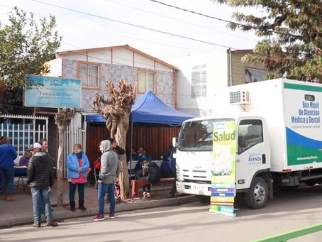 Salud en tu Barrio visitó las Villas El Sauce, San Lucas, El Mañio y Alfonso Galaz