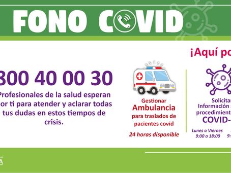 FONO COVID INFORMACIÓN OPORTUNA Y DE CALIDAD