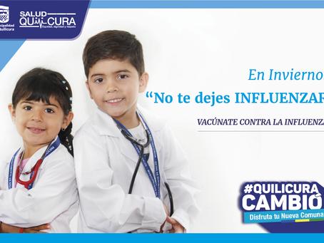 Quilicura dio inicio a la campaña de vacunación contra la Influenza