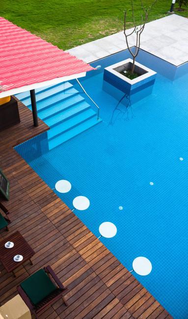 KBG Getaway_LD_Pool Deck Steps and Plant