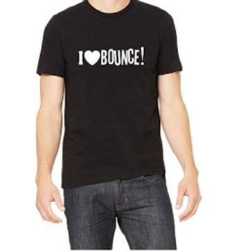 I LOVE BOUNCE! T-SHIRT BLACK