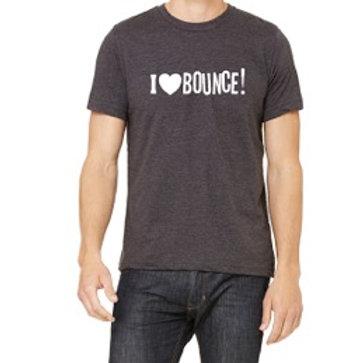 I LOVE BOUNCE! T-SHIRT GRAY