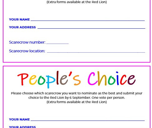 People's Choice Voting Form