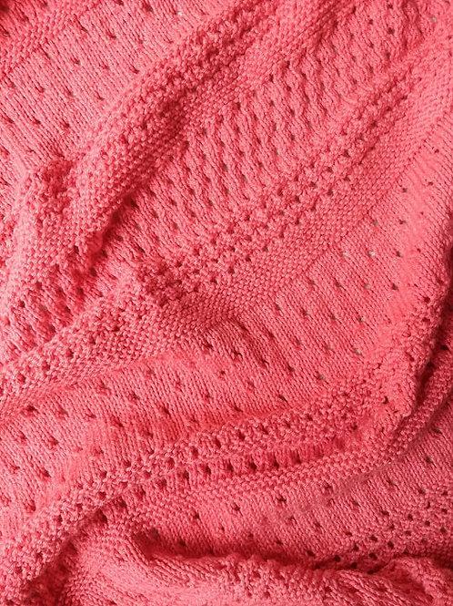 Eyelet Baby Blanket Nr°1 - Coral