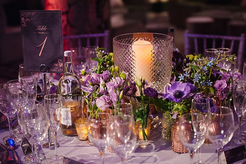 V&A - purple - lisianthus - round table