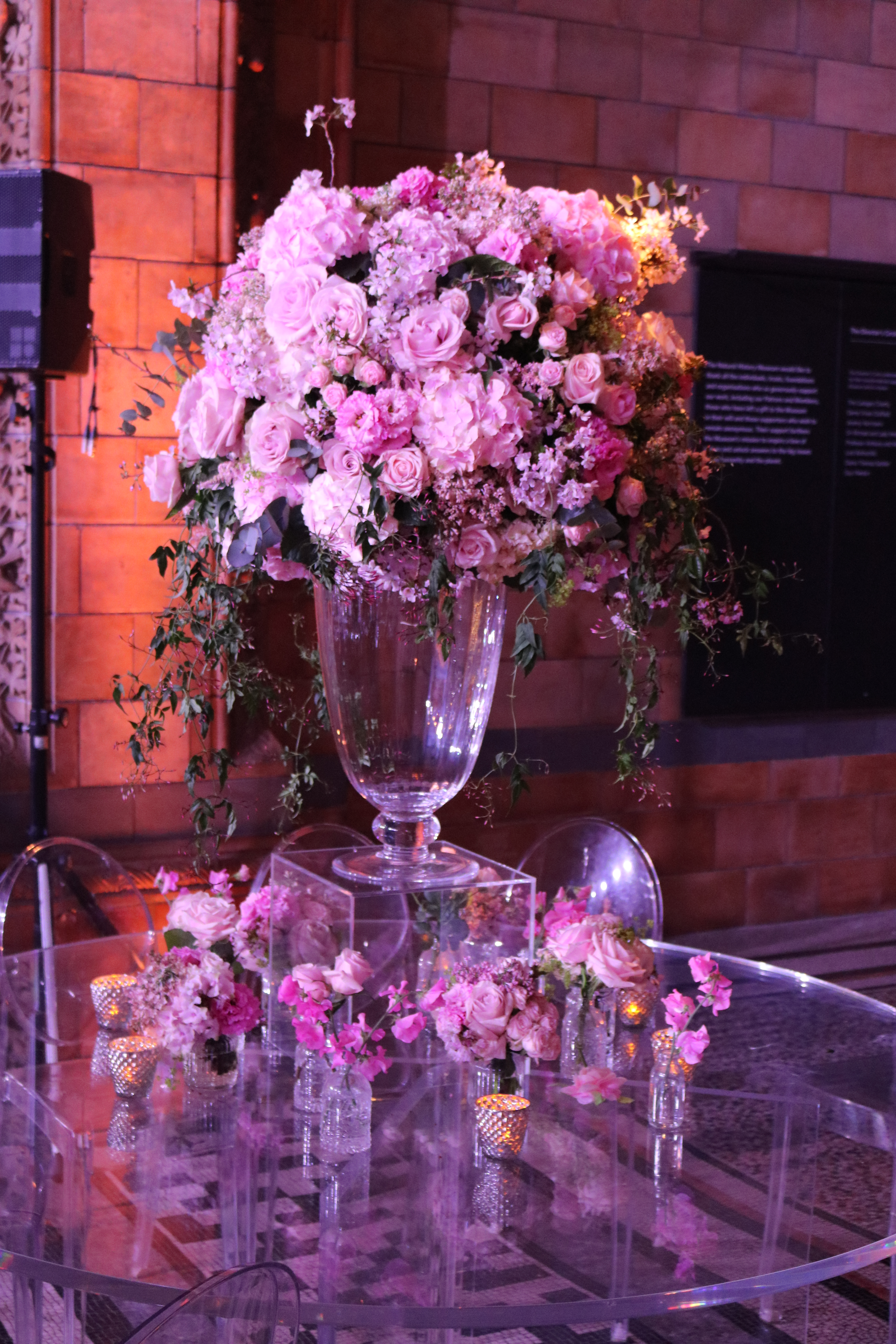 Pink And Lilac Table Centre
