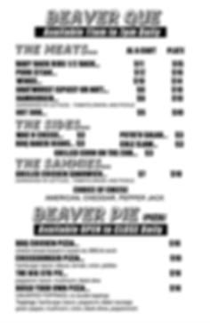 Angry Beaver Menu Bi-Fold R10(Day Summer