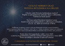 Hvězda Betlémská 21. 12. 2020