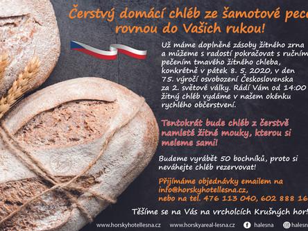 Přijeďte si v pátek pro chléb