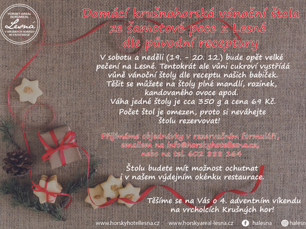 Vánoční štola ze šamotové pece