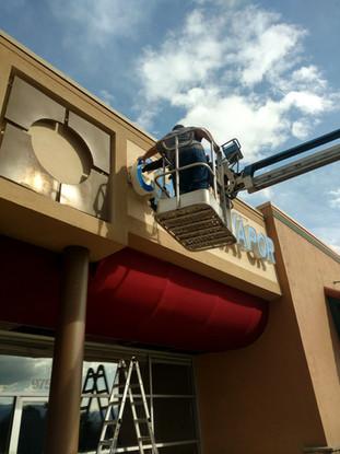 ..Men at Work Business Sign Colorado Spr