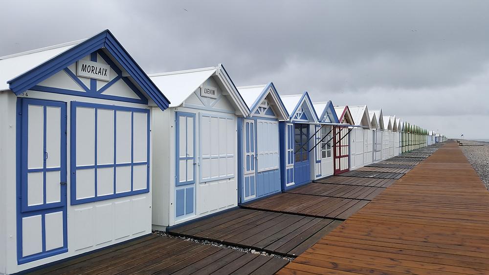 Les cabines de la plage de Cayeux-sur-Mer