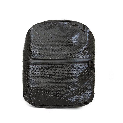Trempy Backpack -Black Shiny Snake