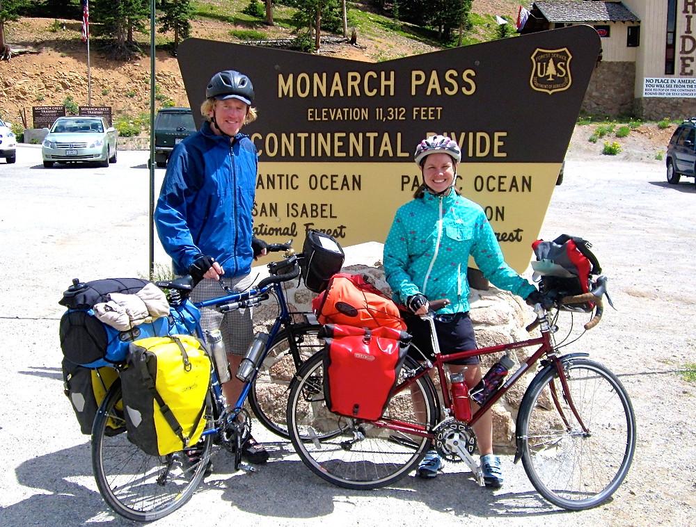 Cycling over Colorado's Monarch Pass