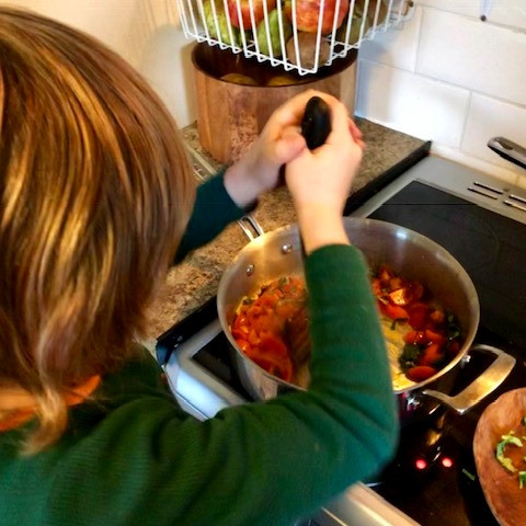 Let your kids cook with you